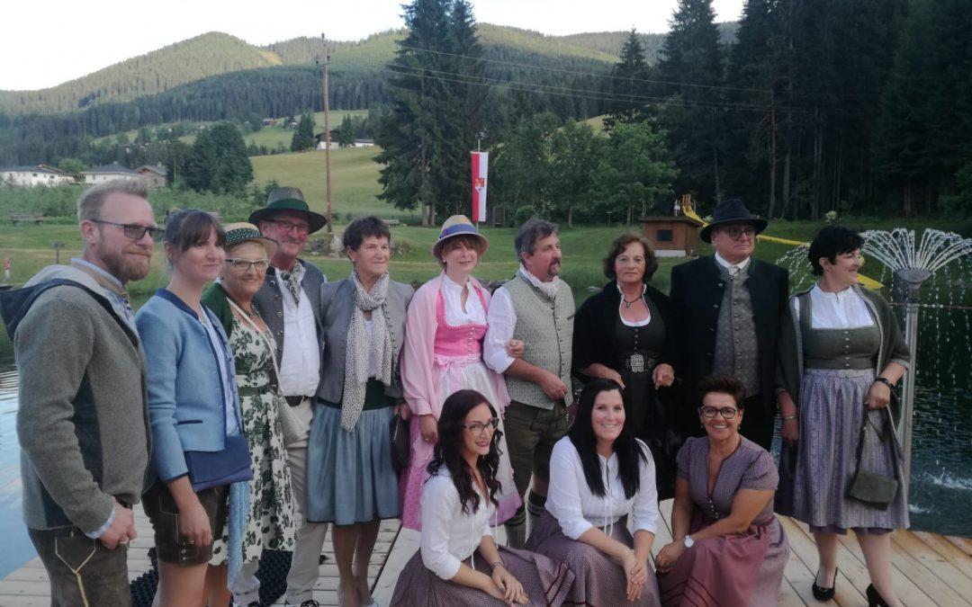 Sommer Sonnwendfeier 22. Juni 2019 beim Waldbad Badesee in Lungötz mit Tombola und Modeschau vom Quehenberger Abtenau