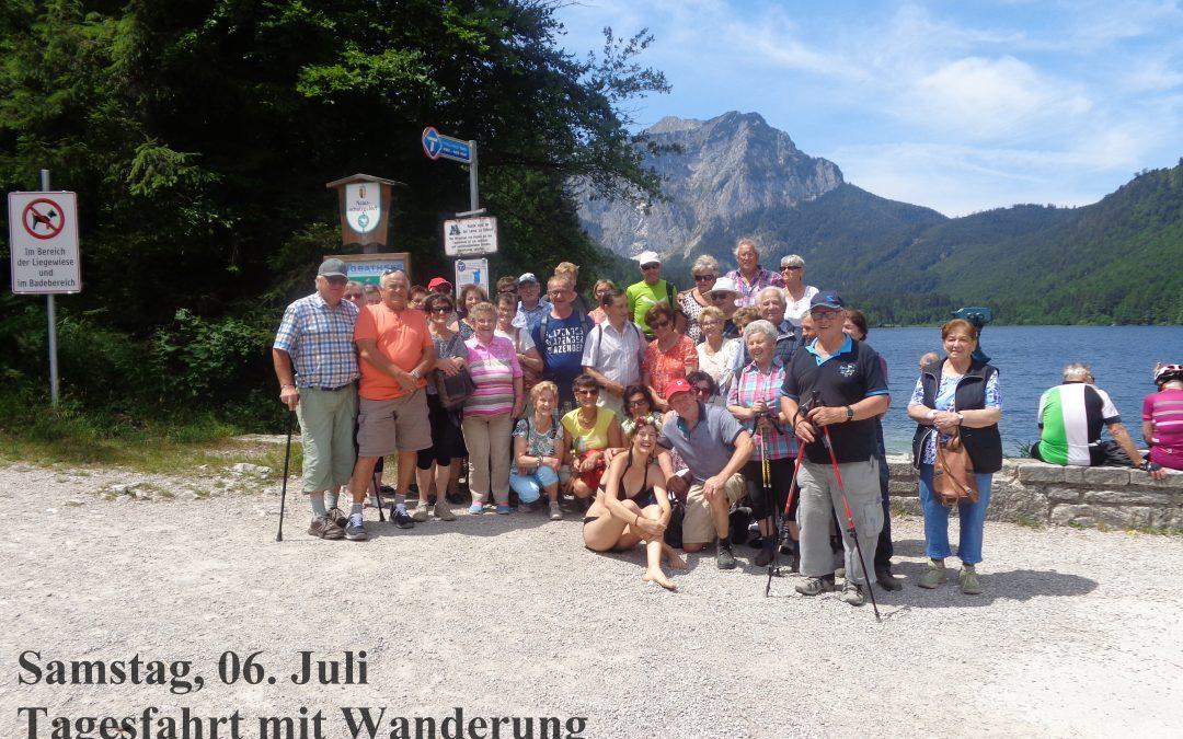 Samstag, 06. Juli 2019 Tagesfahrt mit Wanderung nach Ebensee zu den Langbathseen, mit Führung – 600 Jahre Erlachmühle in Mondsee
