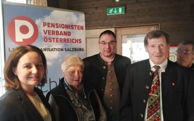 Jahreshauptversammlung unseres Pensionistenverbandes Freitag, 06. März 14:00 Uhr beim Musikantenwirt in Annaberg